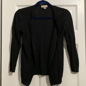 Loft Outlet Black Cardigan 3/4 length sleeve